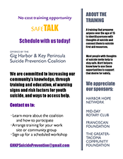 Gig Harbor Key Peninsula SafeTalk Suicide Prevention Thumbnail