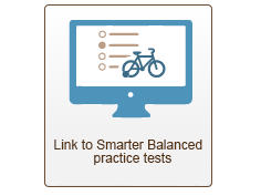 link to smarter balanced practice tests with space