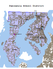 Peninsula School District boundaries