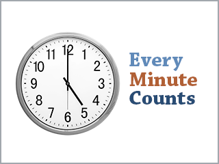 every minute counts
